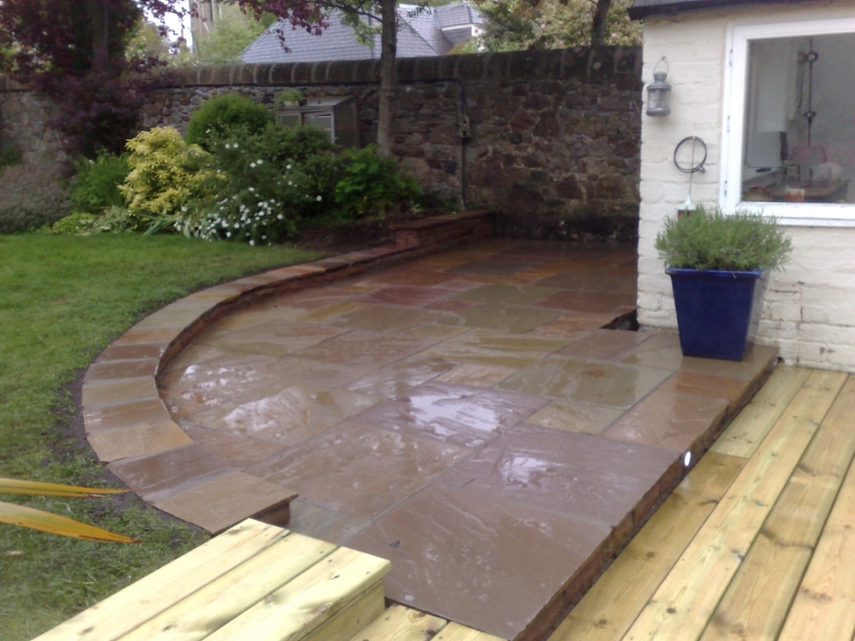 Garden decking projectthe garden construction company for Garden decking companies