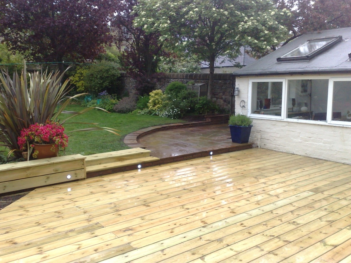 Garden Decking Project In The Grange