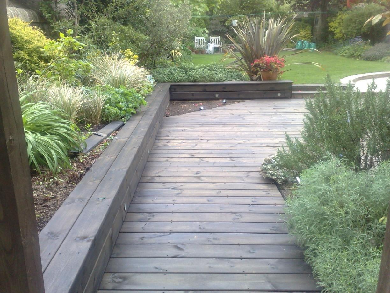 Garden decking projectthe garden construction company for Garden decking edinburgh
