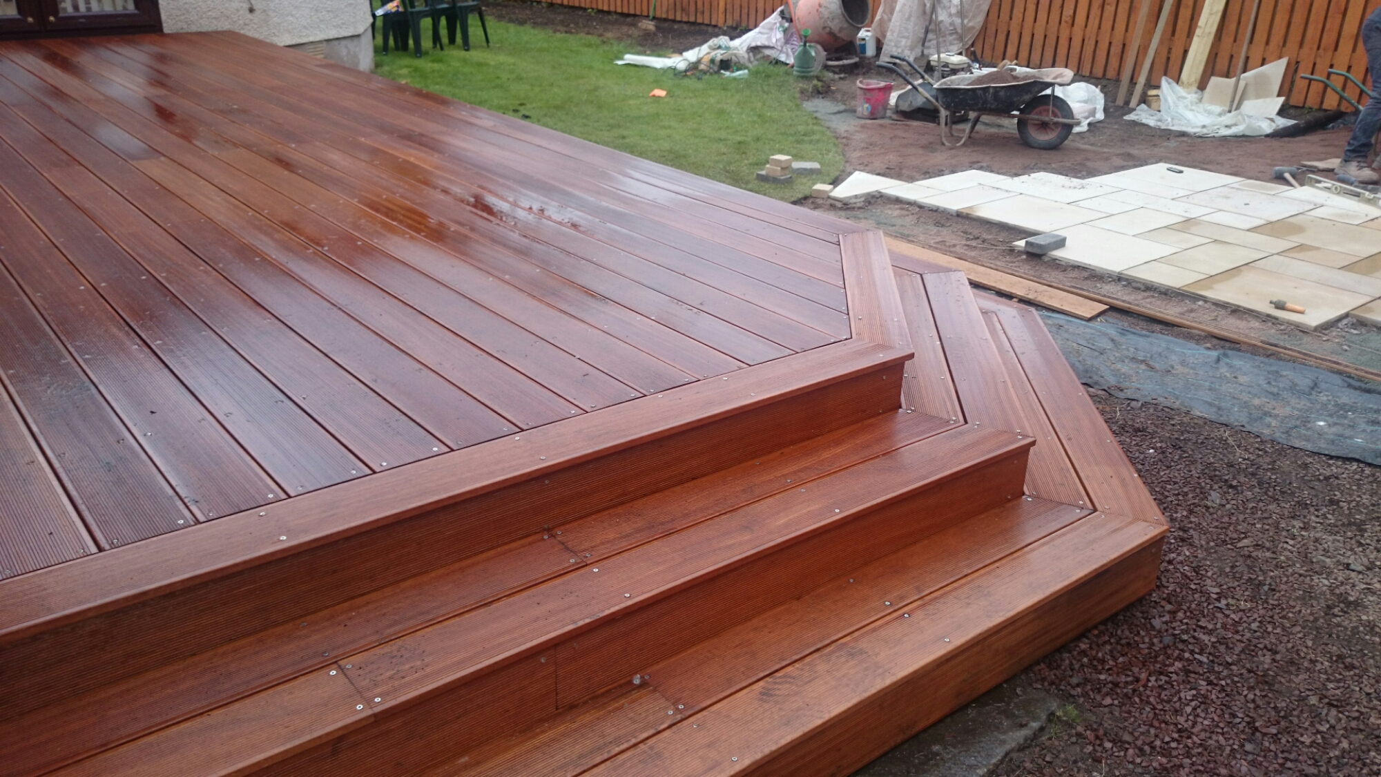 Landscape gardeners edinburgh the garden construction for Garden decking borders
